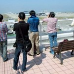 Japan is one of the more 'enthusiastfriendly' nations with dedicated viewing terraces commonplace at airports across the country - Kansai is no exception with Sky View offering commanding views across the airfield. (Sebastian Schmitz)