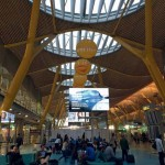 Madrid's T4 features a striking 'seagull-wing' roof profile, while glass domes flood the interior with natural light. (Jesús Álvarez)