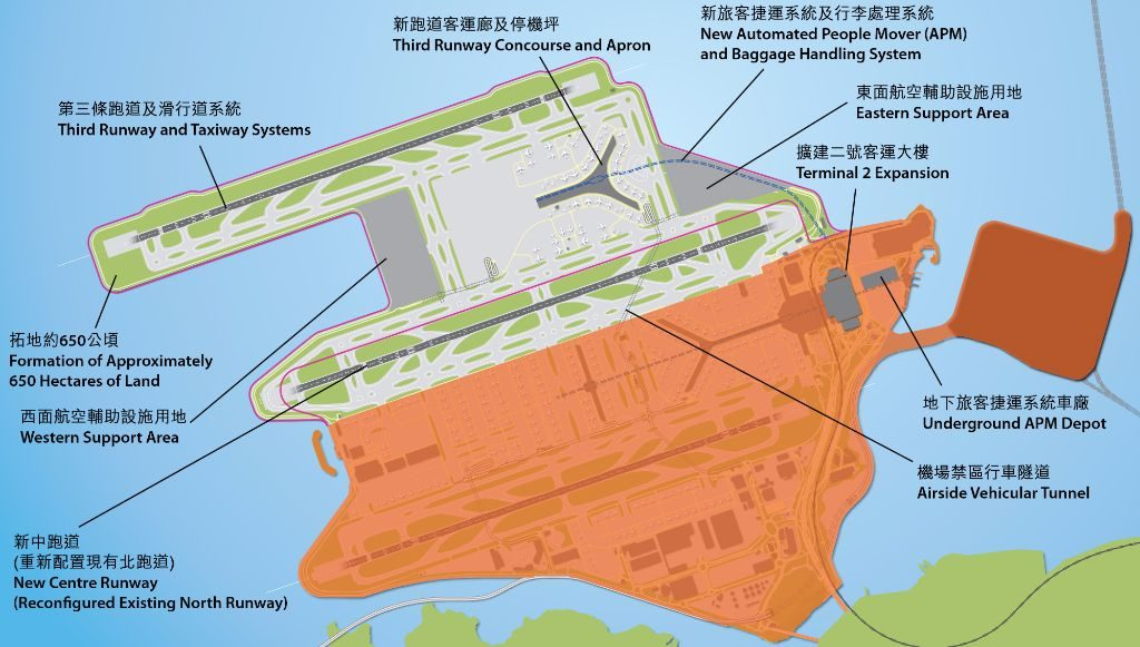 hk third runway expansion in the Question: the airport authority (aa) has recently released an environmental  impact assessment (eia) report on expansion of the hong kong.