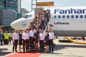 The German national football team departed Frankfurt on June 7 bound for Chambéry-Savoie Airport in France. Lufthansa