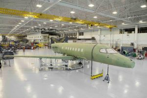 The milestone came just weeks after the wing was mated to the fuselage of the first jet. Textron Aviation
