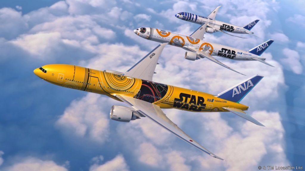 The C-3PO Jet will be ANA's third Star Wars jet. ANA