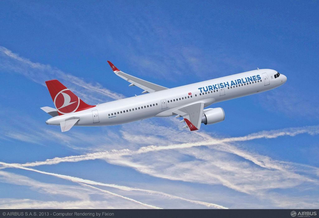 Turkish Airlines currently has 92 Airbus A321neos on order. Turkish Airlines