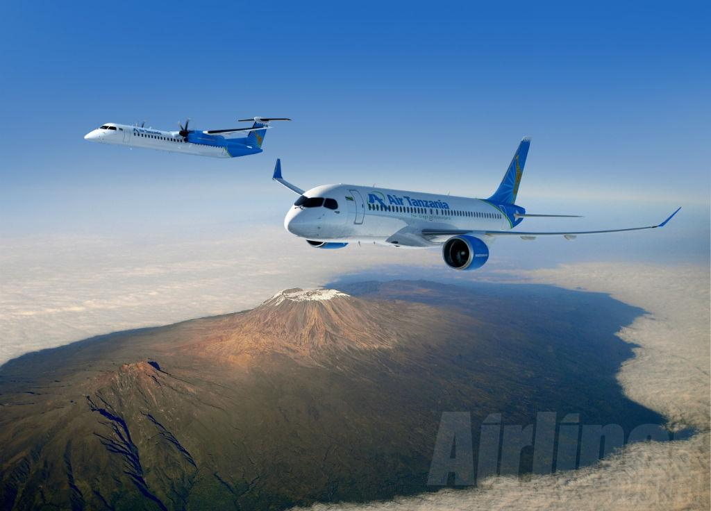 Air Tanzania will add two CS300s and a Q400. (Photo Bombardier)